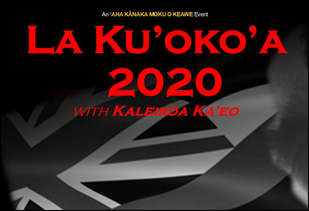 La Ku'oko'a 2020-Kaleikoa Ka'eo 1025x700